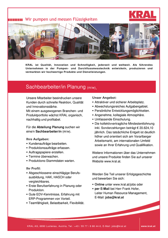 Sachbearbeiter/in Planung (m/w)