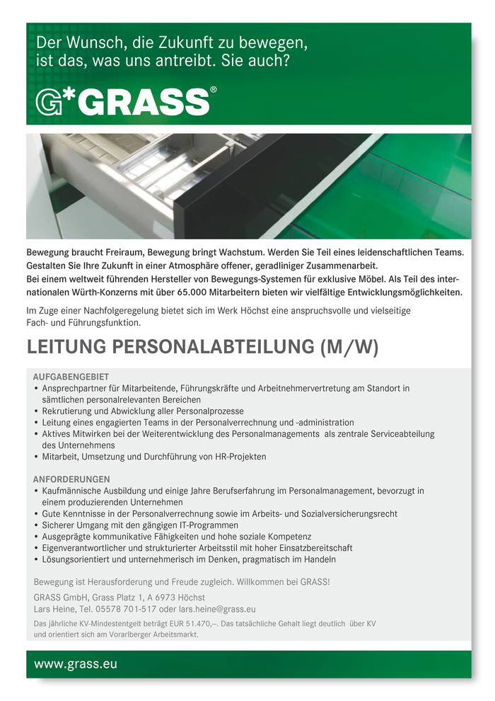 Leitung Personalabteilung (m/w)