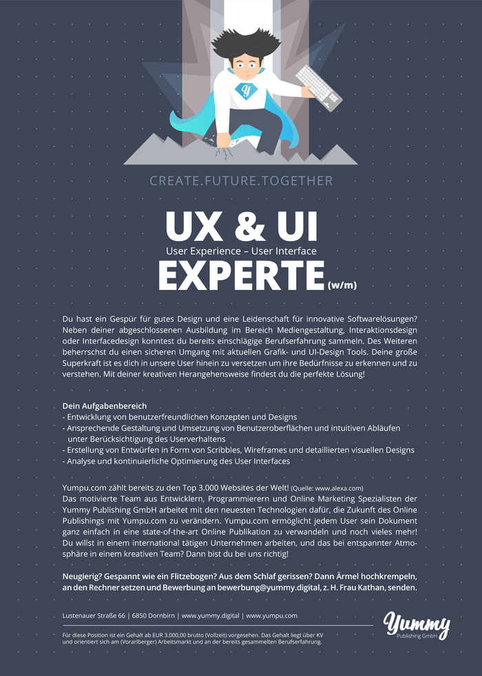 User Experience & User Interface Experte (w/m)