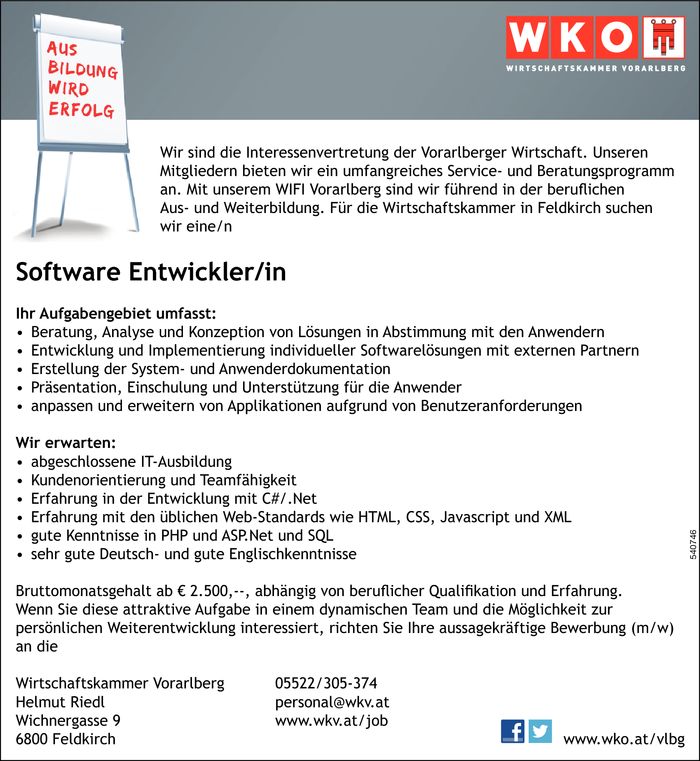 Software Entwickler/in