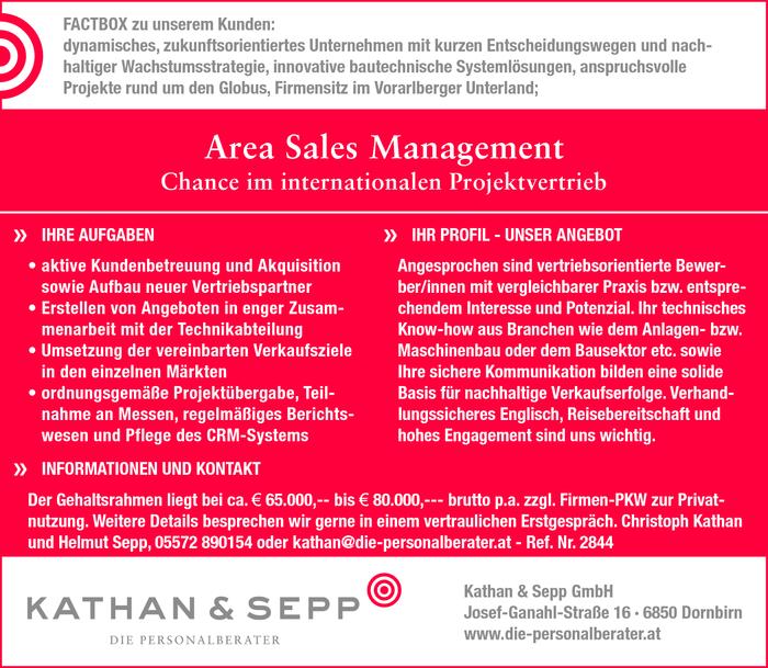 Area Sales Management