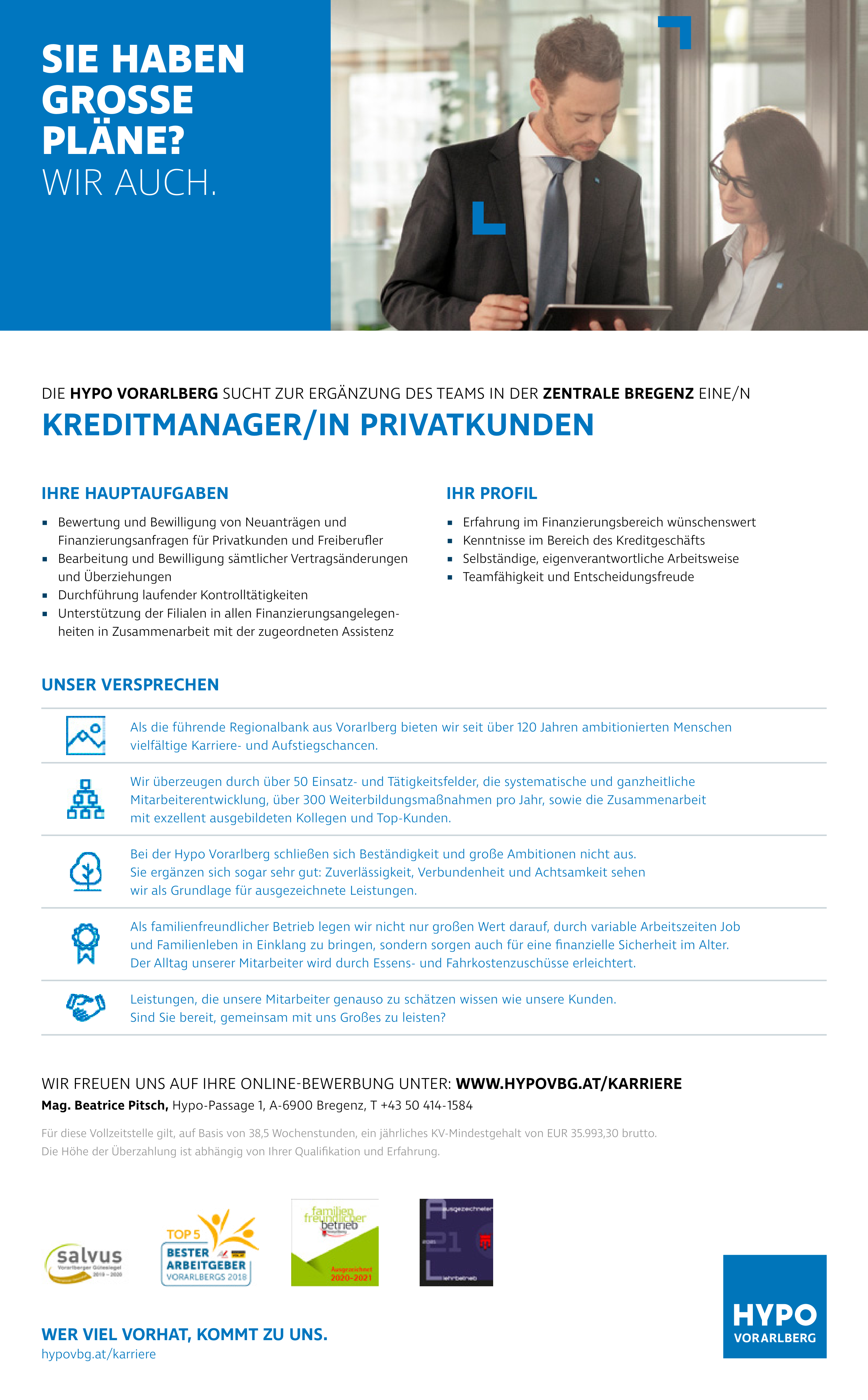 KREDITMANAGER/IN PRIVATKUNDEN