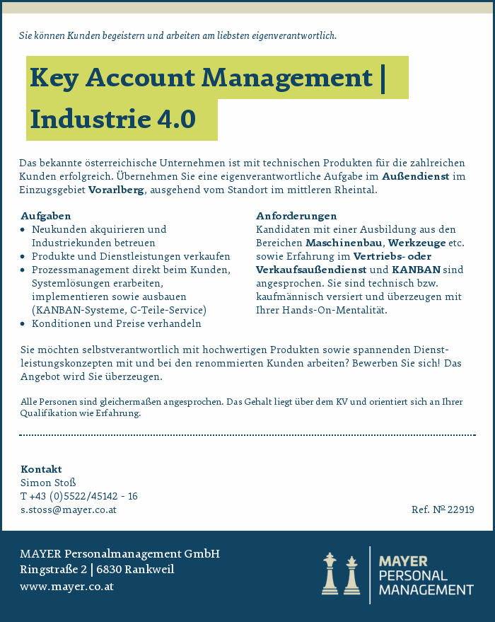 Key Account Management | Industrie 4.0