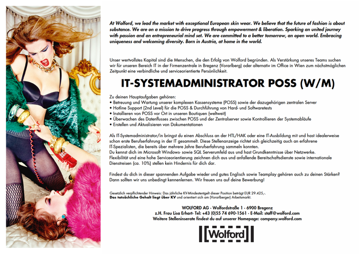 IT-SYSTEMADMINISTRATOR POSS (W/M)