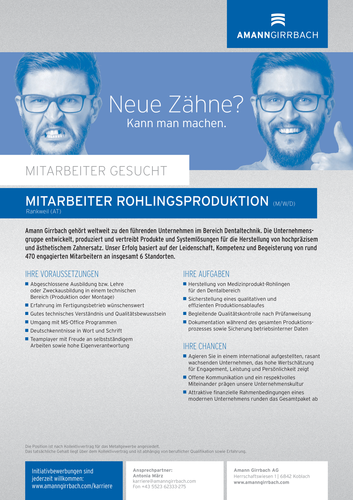 Mitarbeiter Rohlingsproduktion (m/w/d)