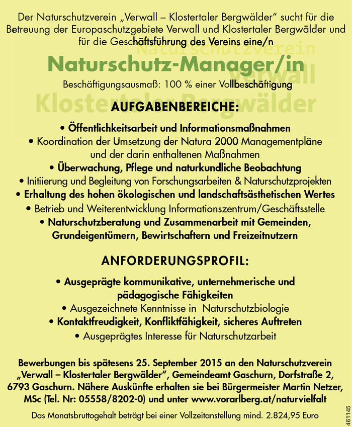 Naturschutz-Manager/in