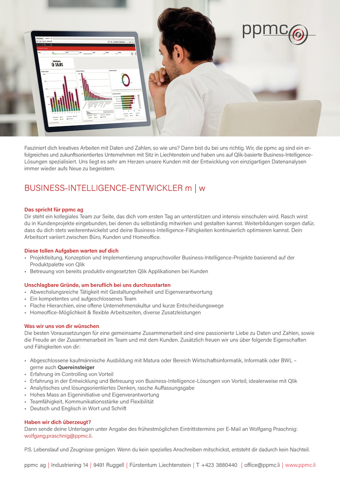 Business Intelligence Entwickler m | w