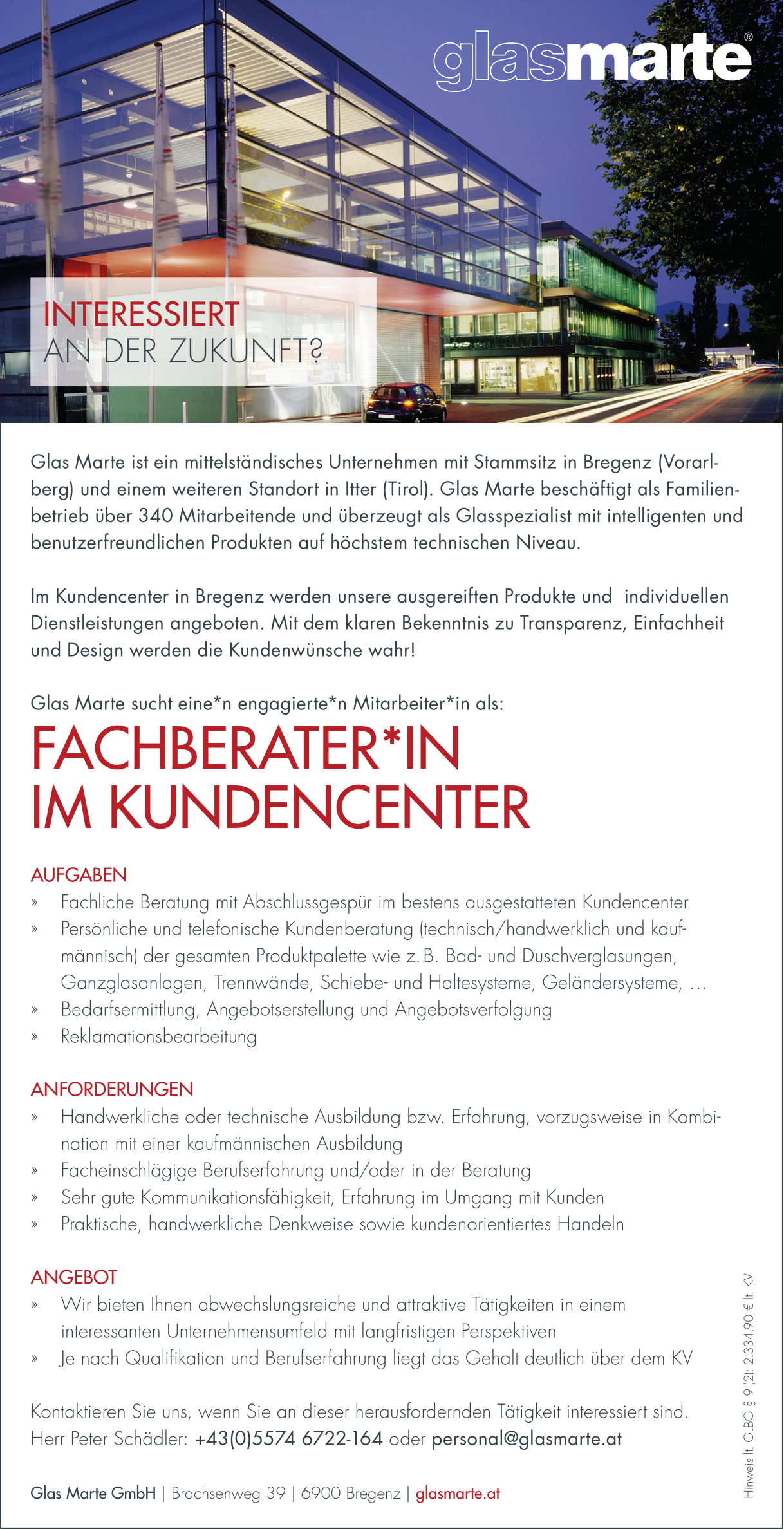 Fachberater*in / Kundencenter