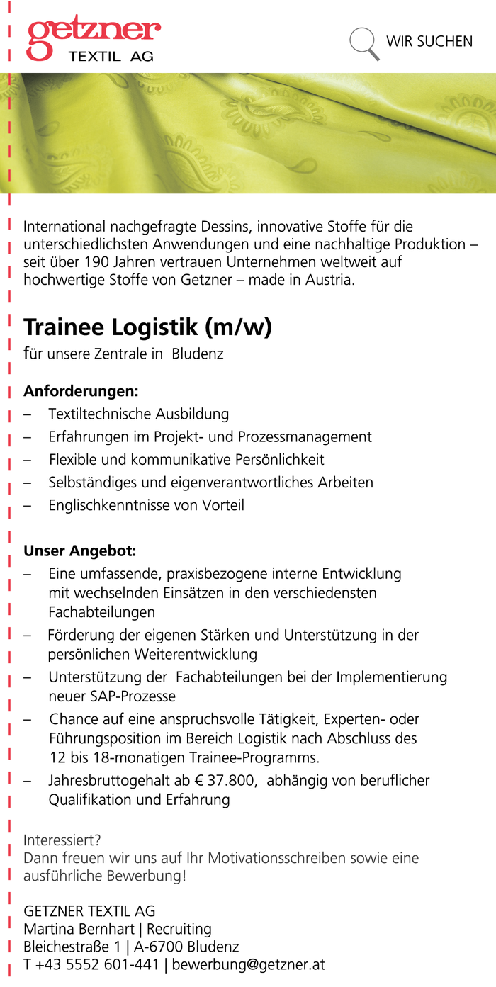 trainee-logistik