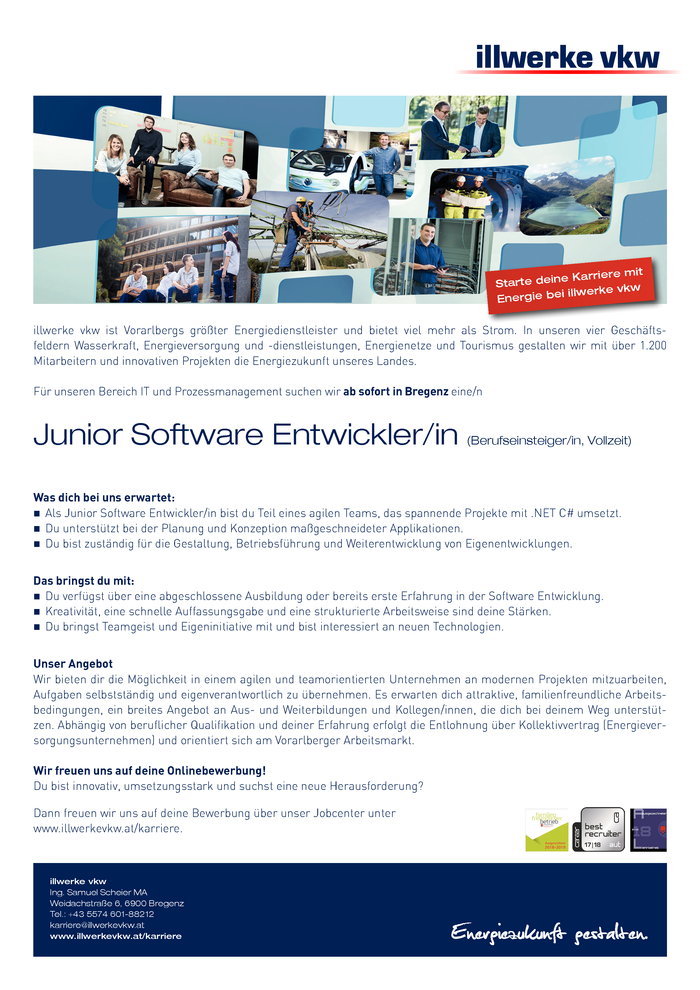 Junior Software Entwickler/in