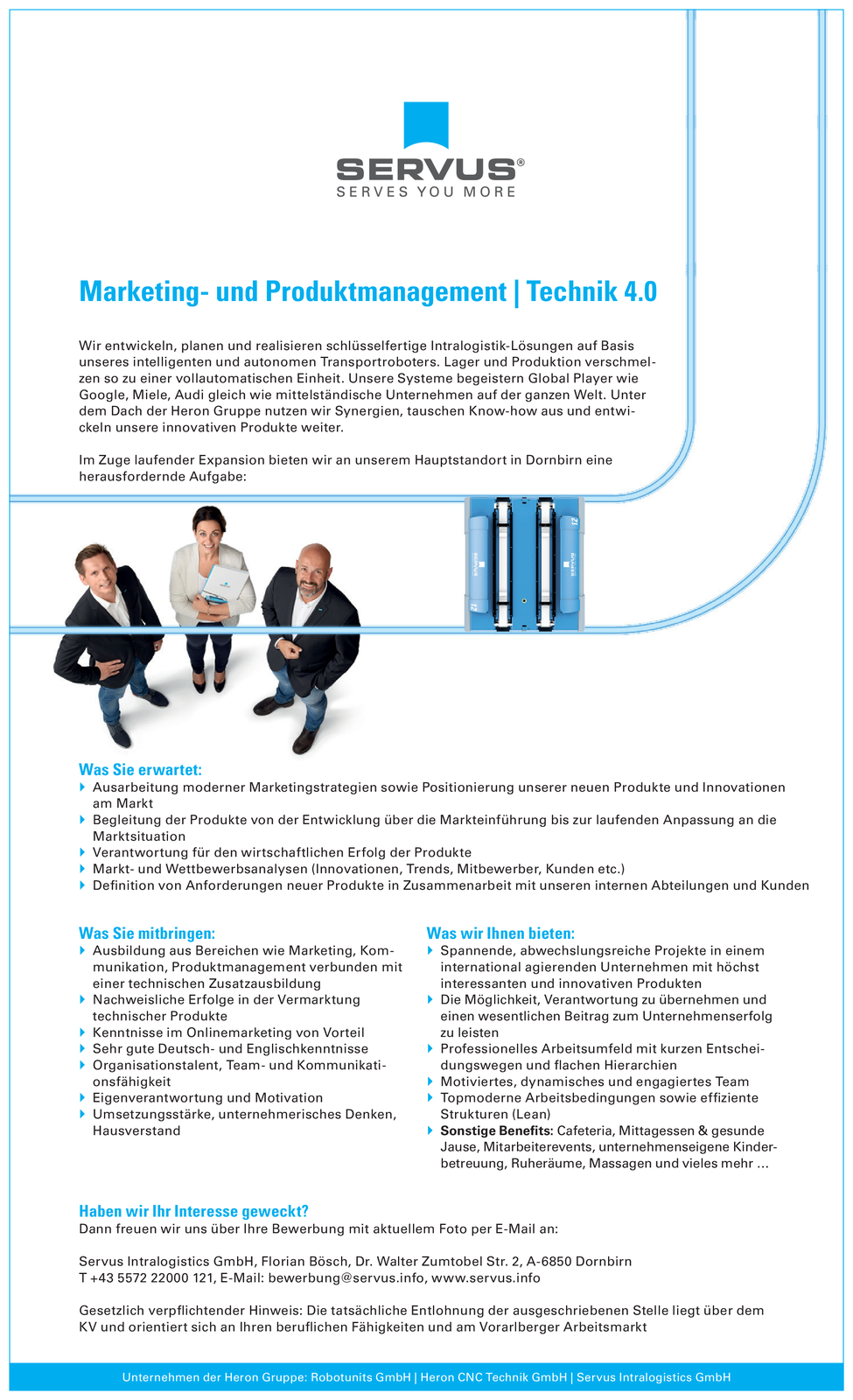 Marketing- und Produktmanagement | Technik 4.0