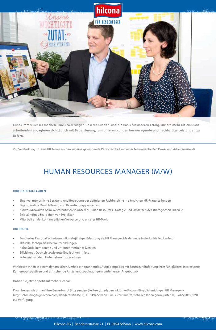 Human Resources Manager (m/w)
