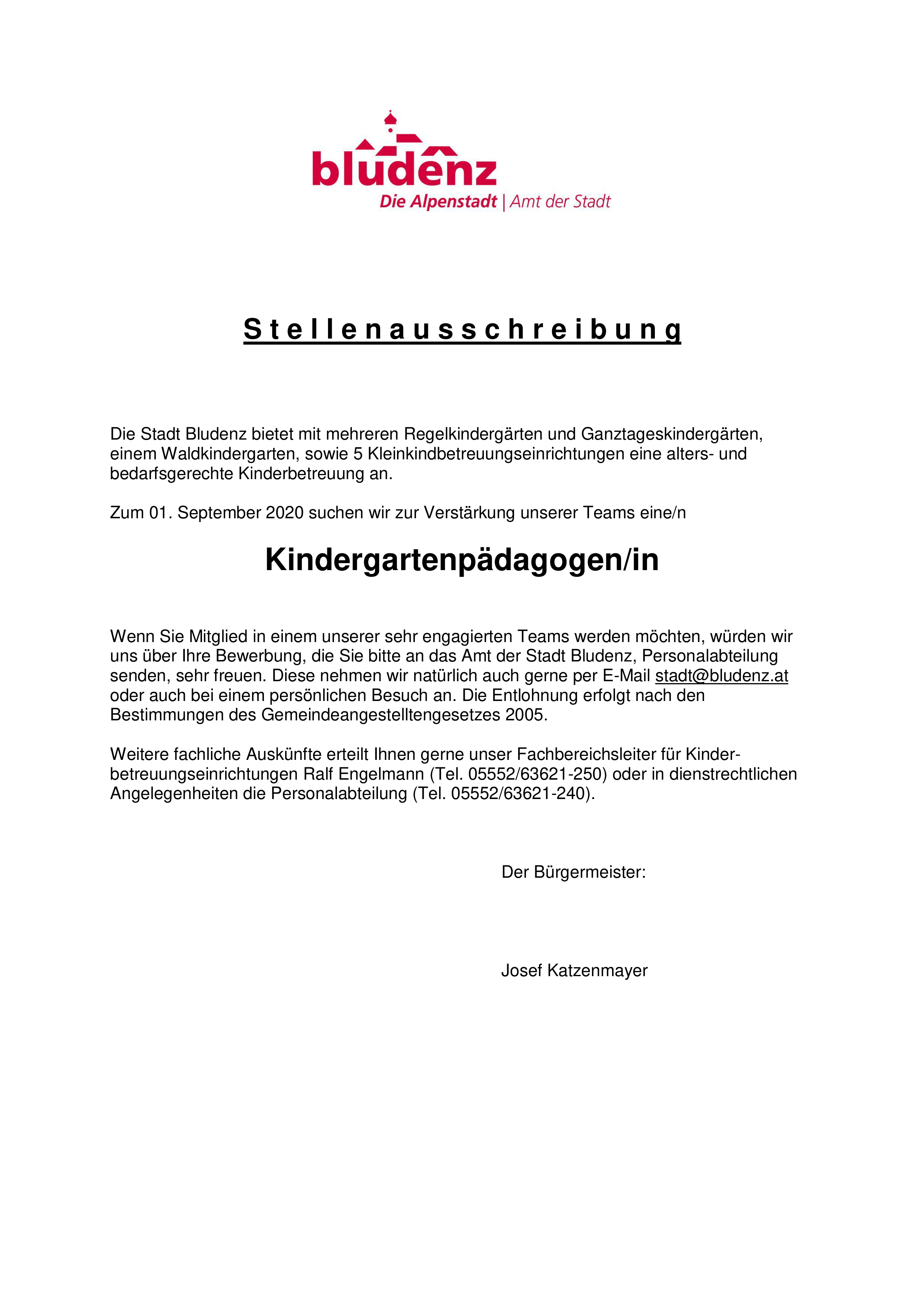 KindergartenpädagogIn