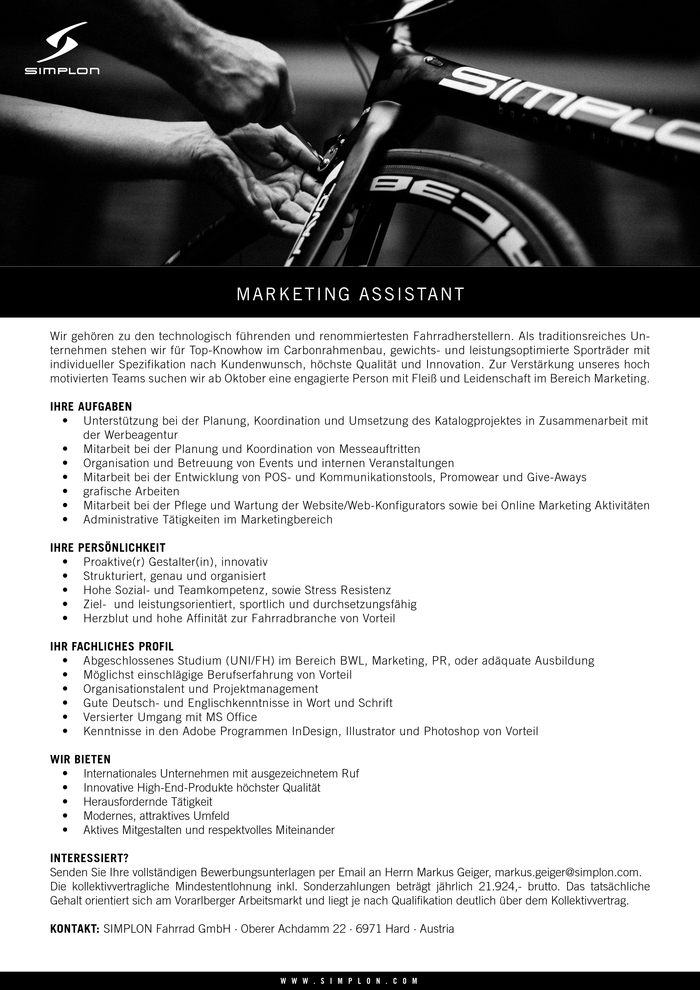 Marketing Assistant (m/w)