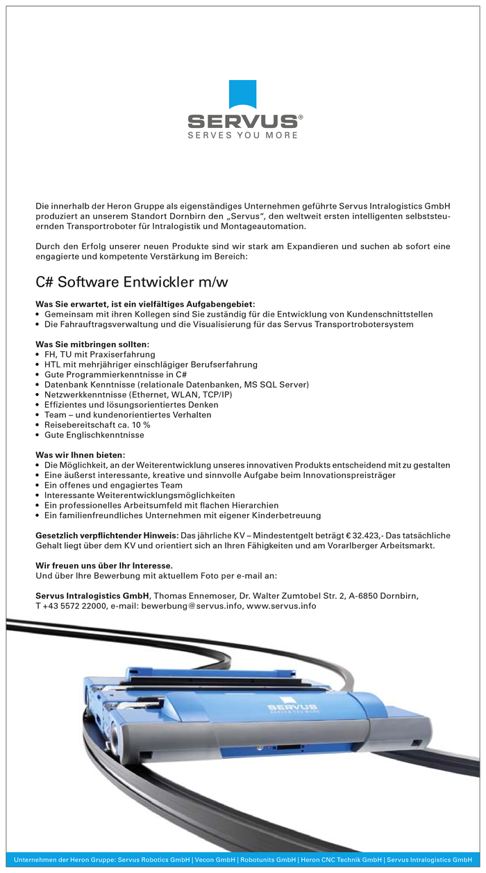 C# Software Entwickler m/w