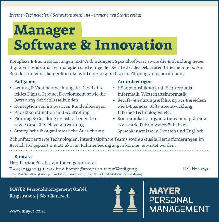 Manager Software & Innovation