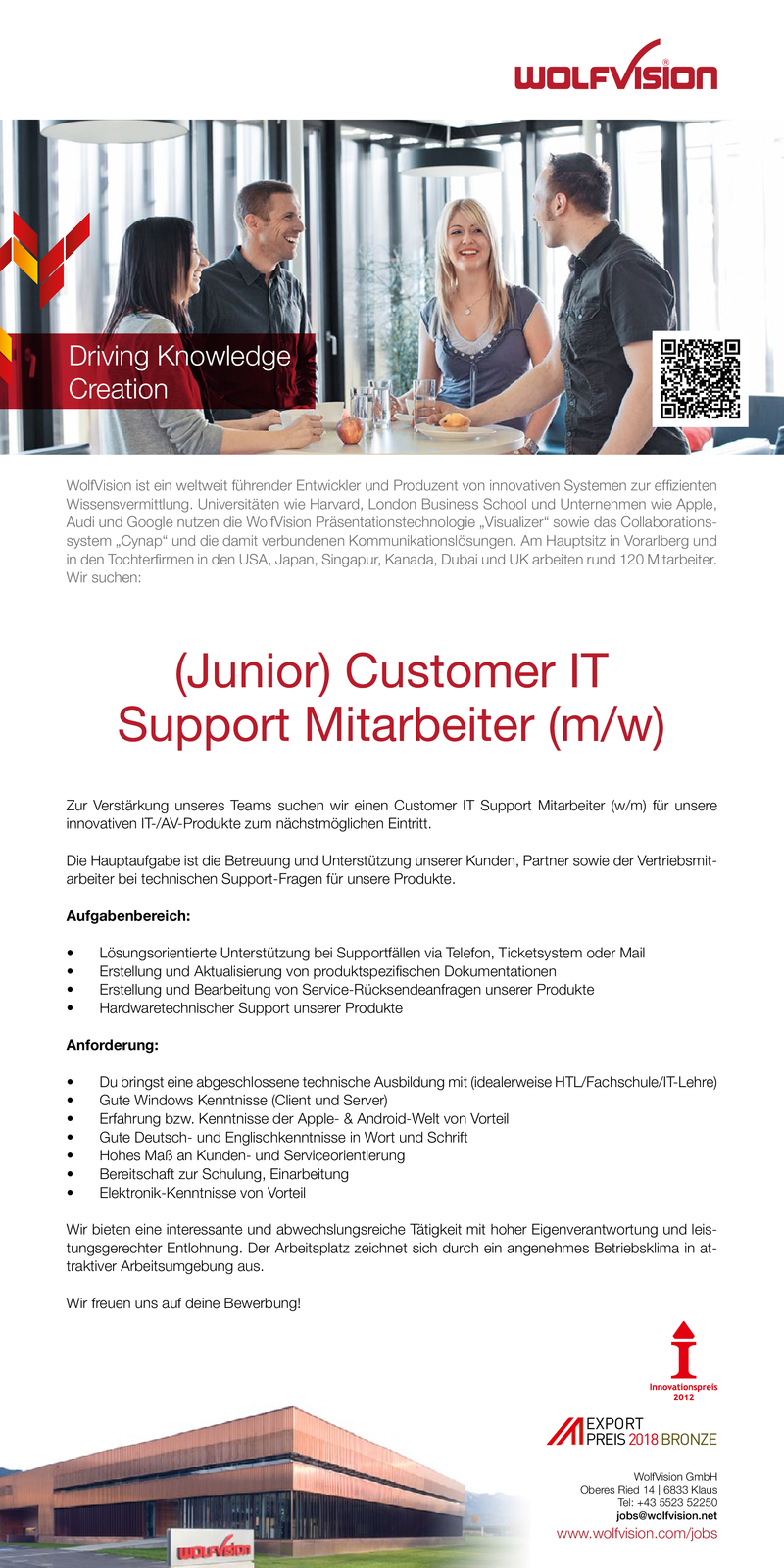 (Junior) Customer IT Support Mitarbeiter (m/w)