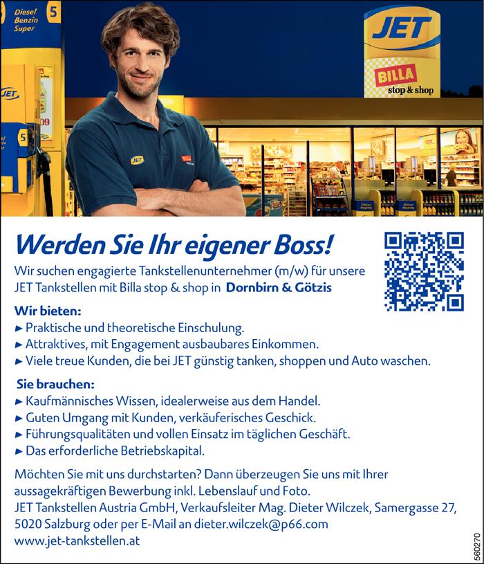 Tankstellenunternehmer (M/W) - Dornbirn - Jobs In Vorarlberg