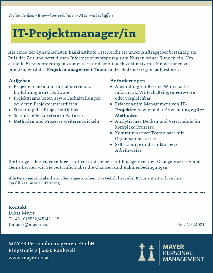 IT-Projektmanager/in