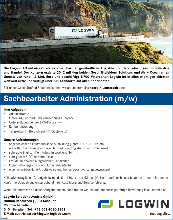 Sachbearbeiter/in Administration
