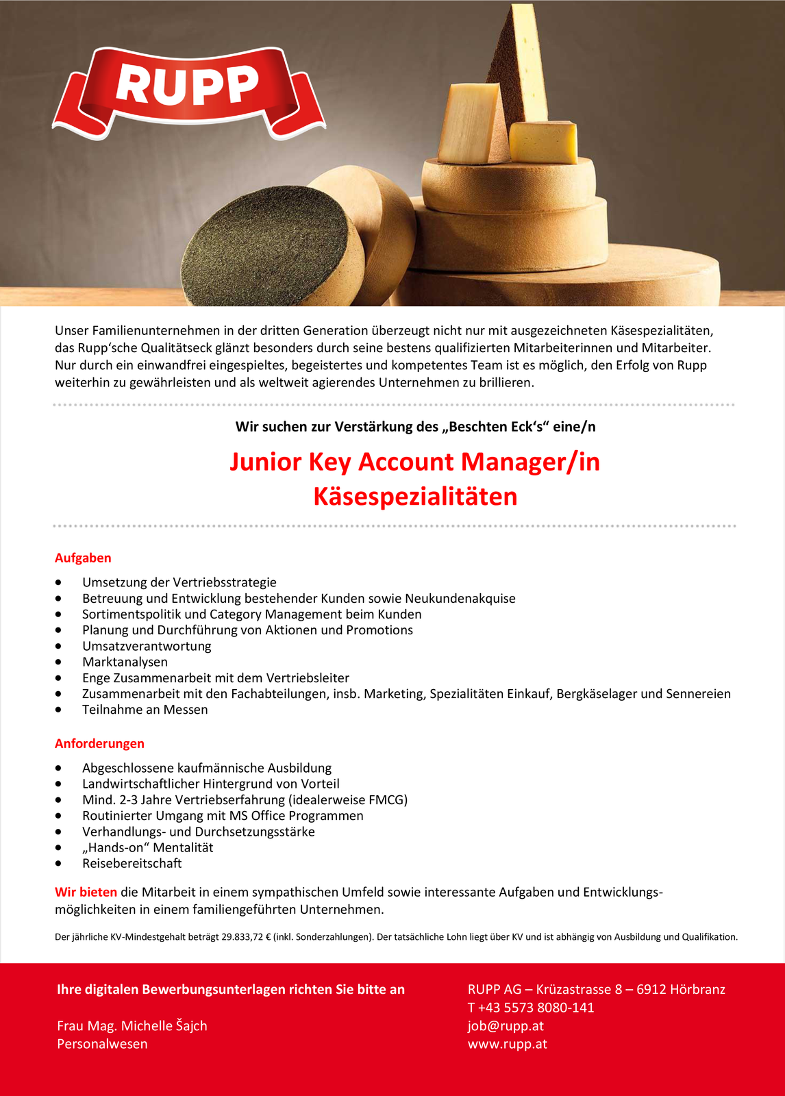 Junior Key Account Manager/in