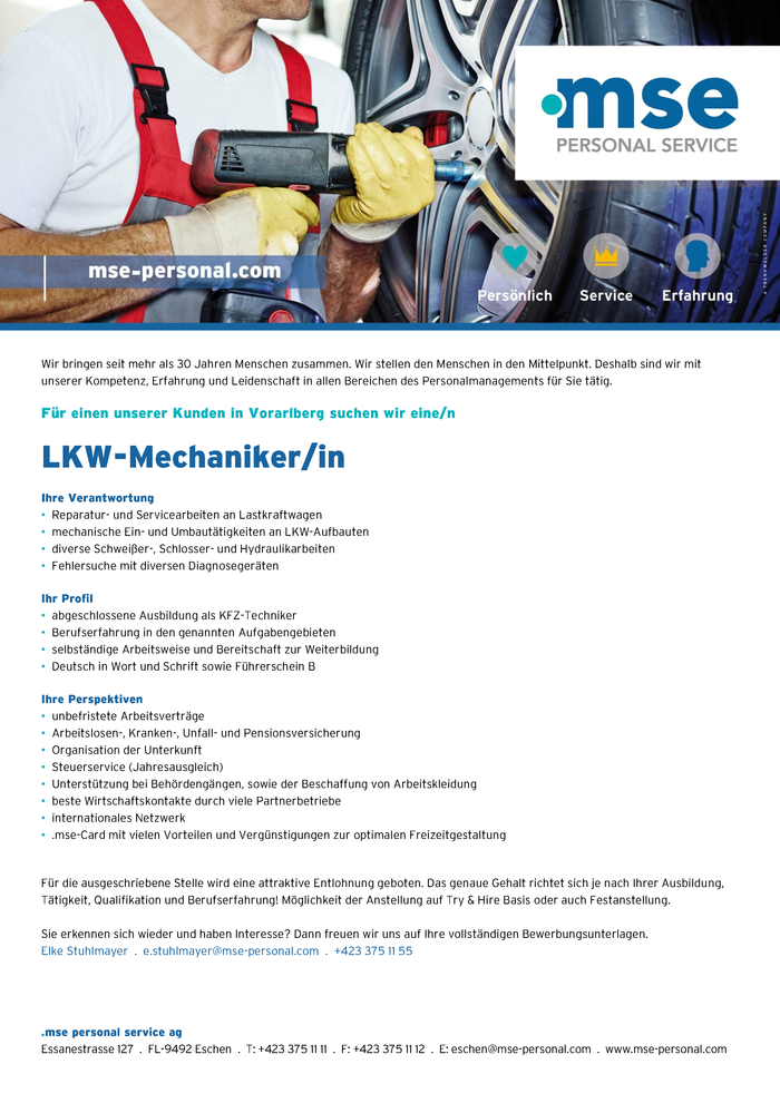 LKW-Mechaniker/in