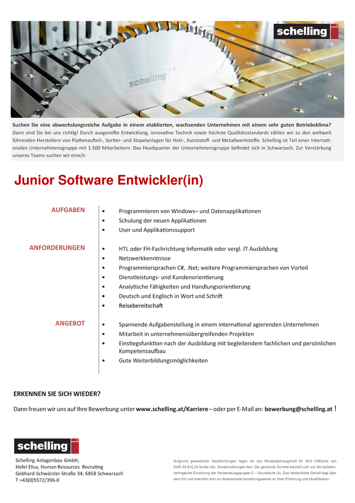 Software-Entwickler Junior (m/w)