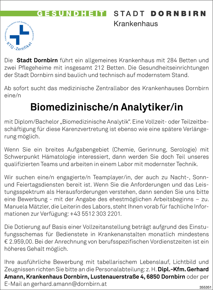 Biomed. Analytiker/in