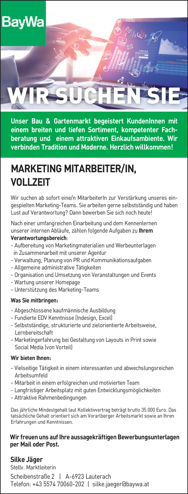 Marketing MitarbeiterIn