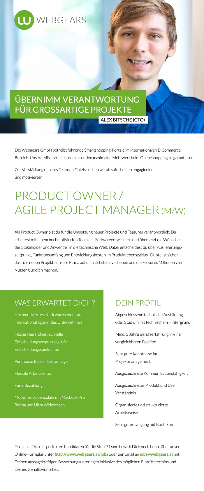 Product Owner / Agile Project Manager  (w/m)