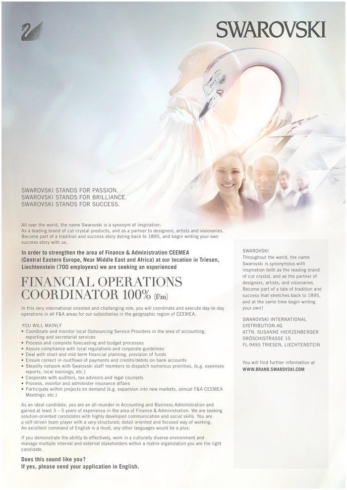 Financial Operations Coordinator 100% (f/m)