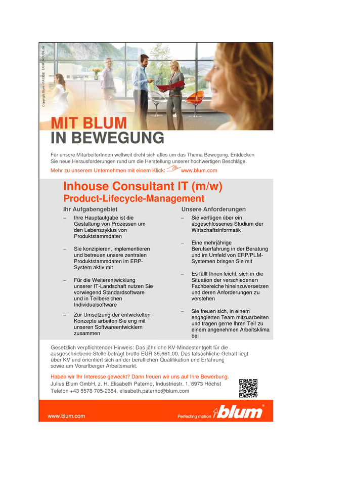 Inhouse Consultant IT (m/w)