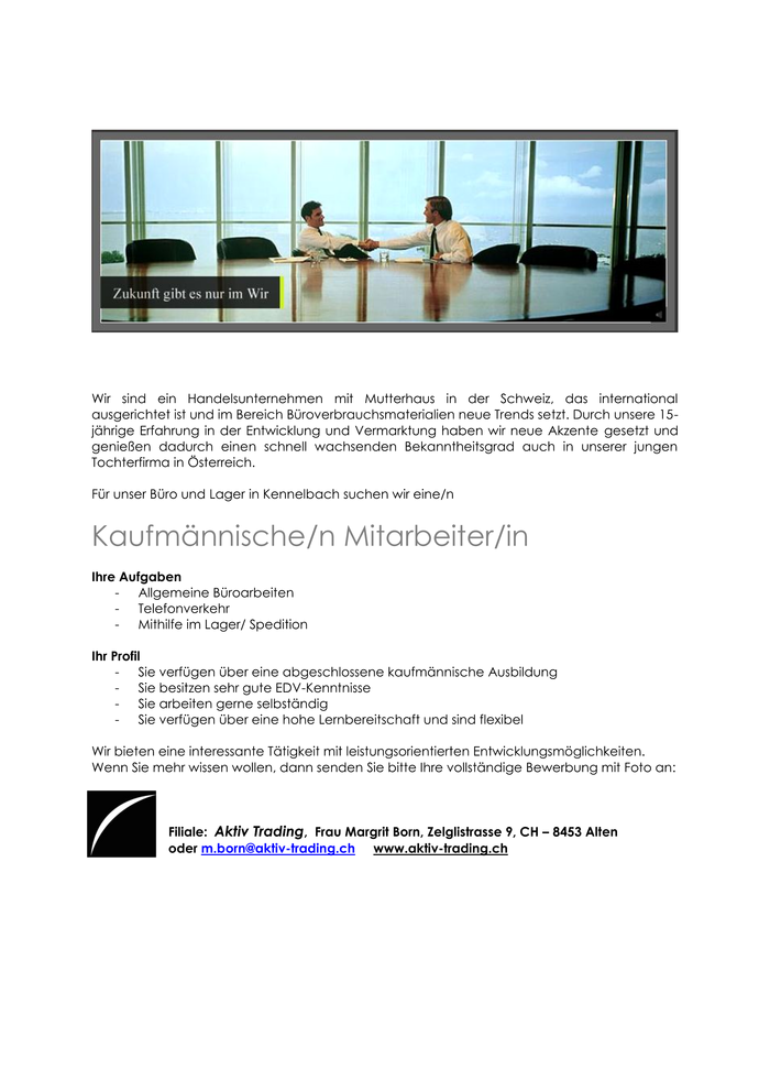 Aktiv trading gmbh kennelbach