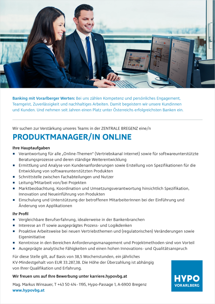 PRODUKTMANAGER/IN - ONLINE