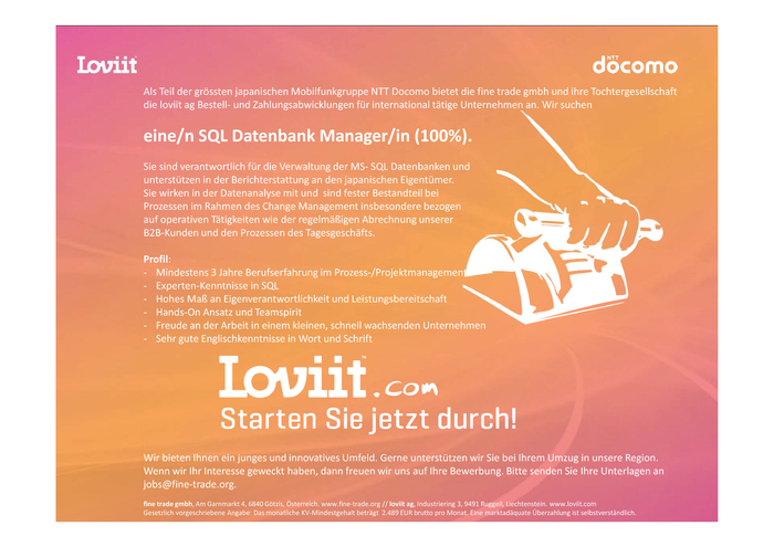 SQL Datenbank Manager/in (100%)