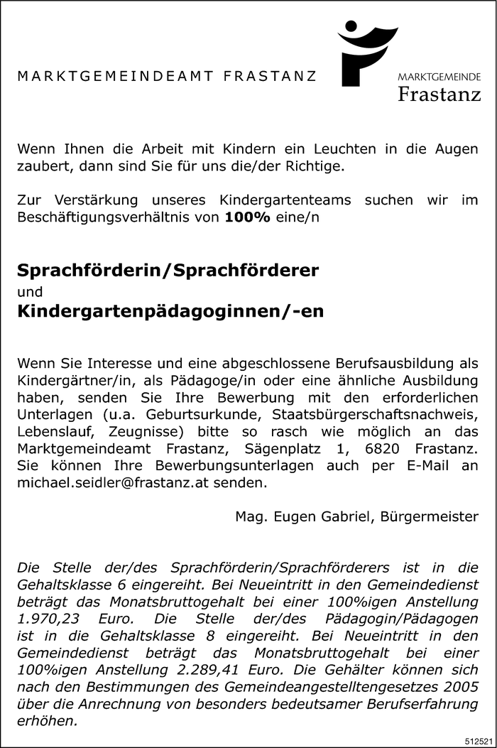 Sprachförderer/in, Kindergartenpädagoge/in
