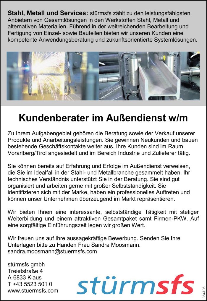 Kundenberater/in