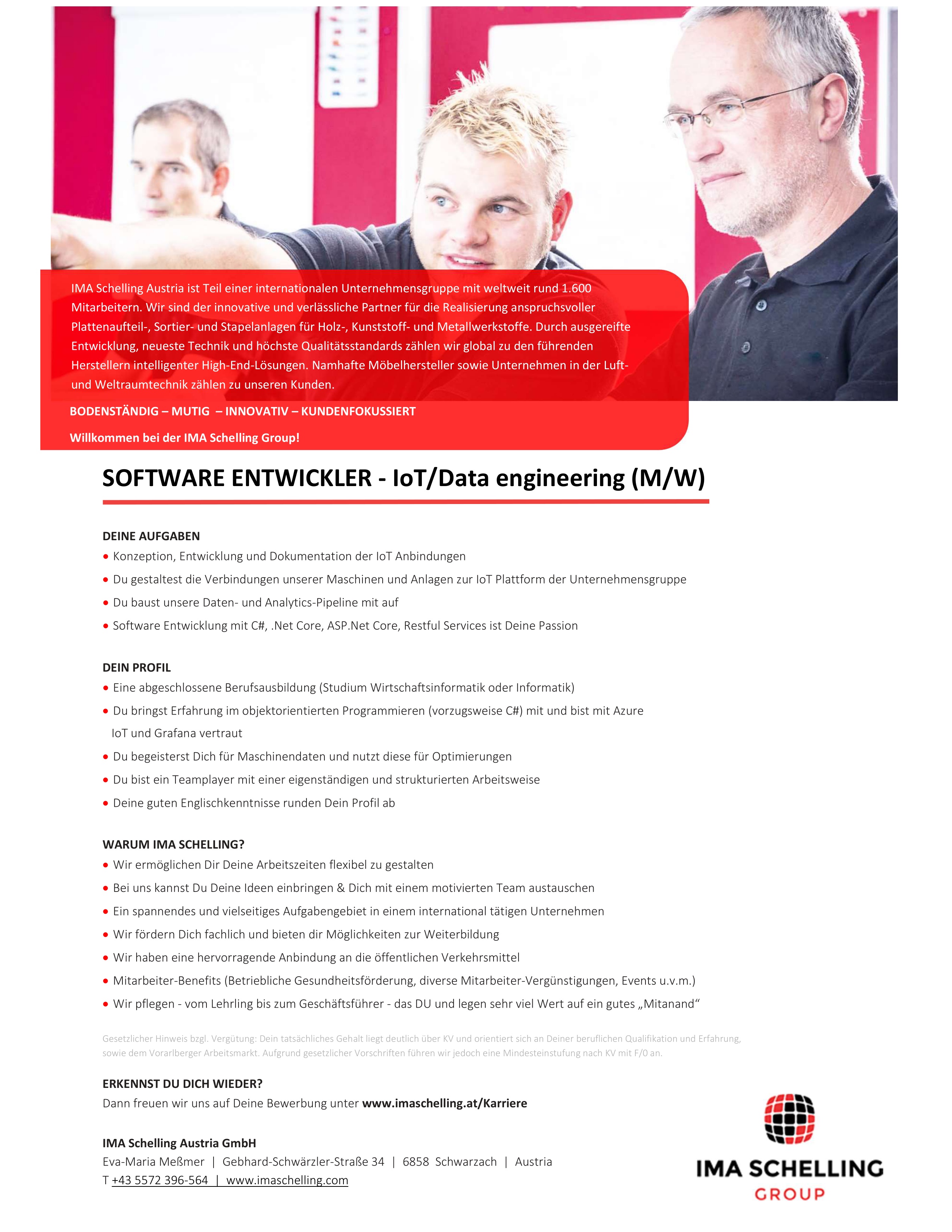 Software Entwickler - IoT/Data engineering (m/w)