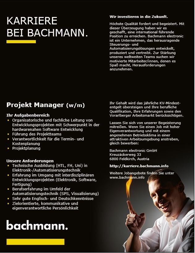 Projekt Manager (w/m)