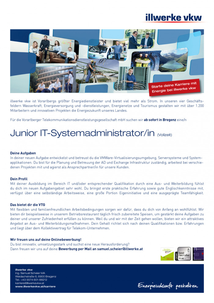 Junior IT-Systemadministrator/in