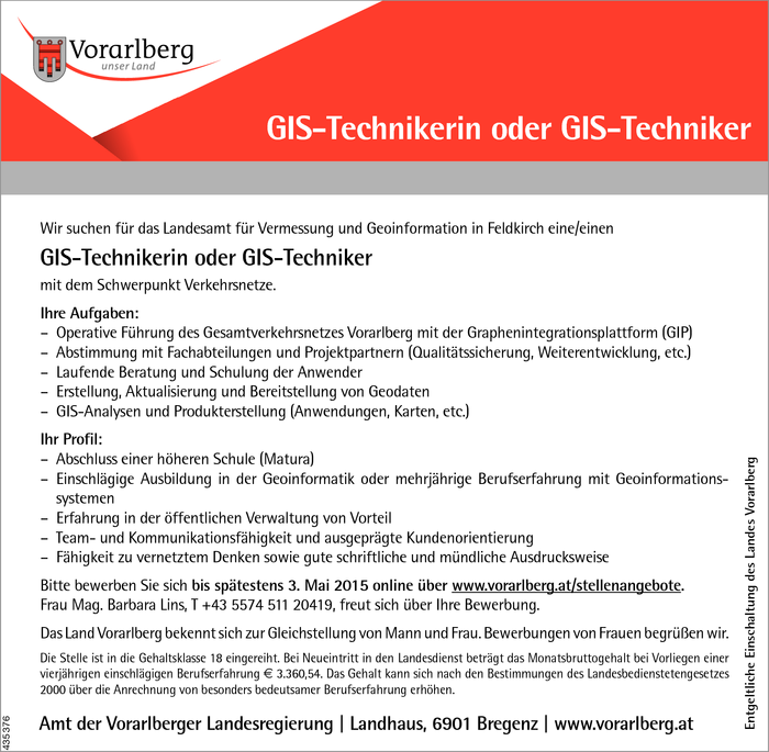GIS-Techniker/in