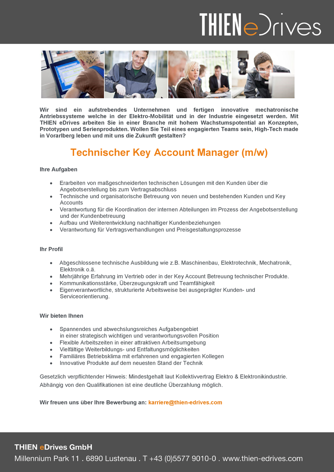 Technischer Key Account Manager (m/w)