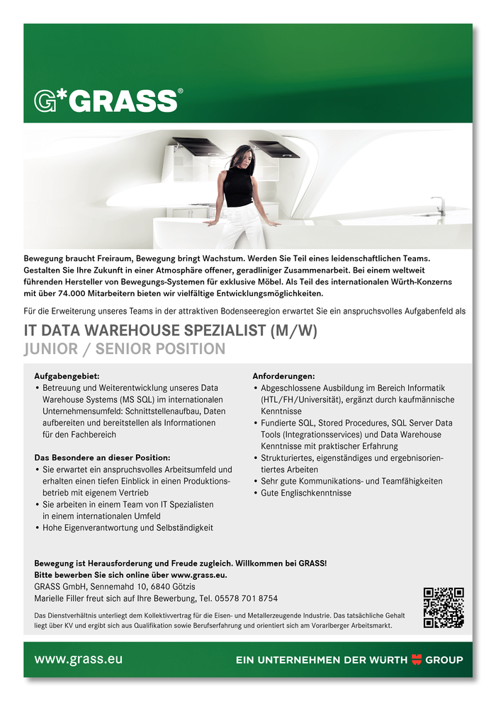 IT Data Warehouse Spezialist (m/w)