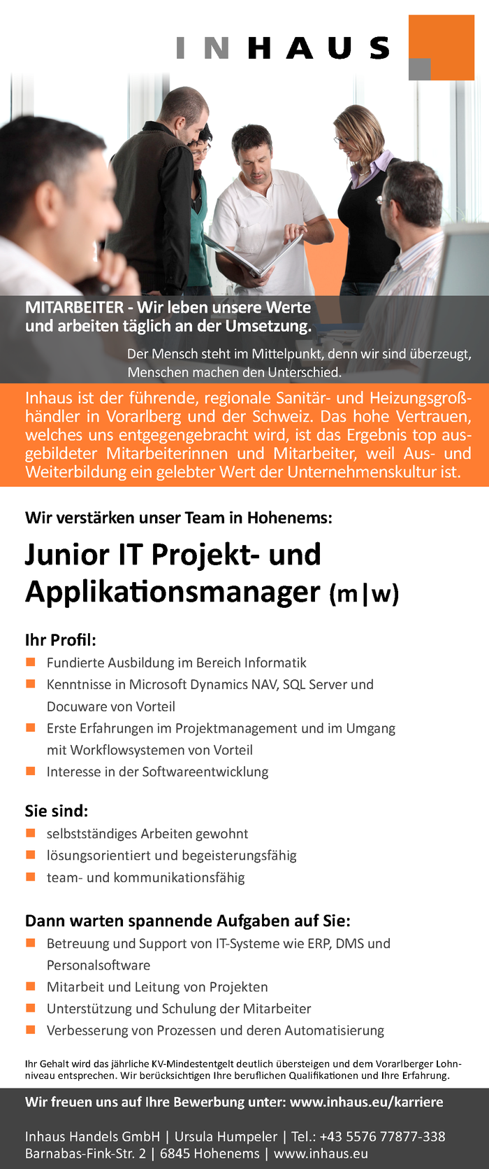 Junior IT Projekt- und Applikationsmanager (m|w)
