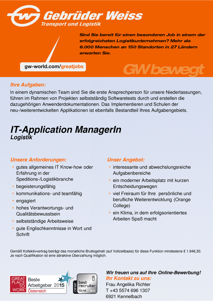 IT-Application ManagerIn