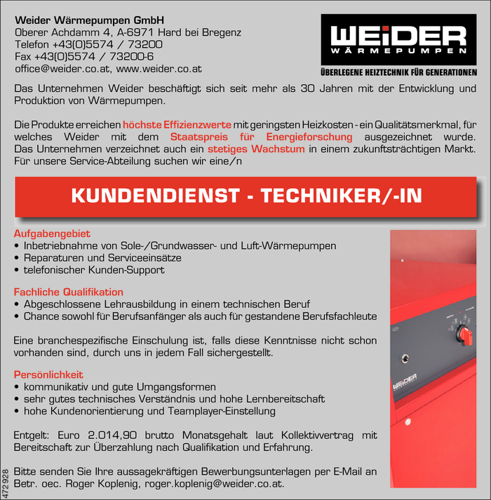 kundendienst-technikerin
