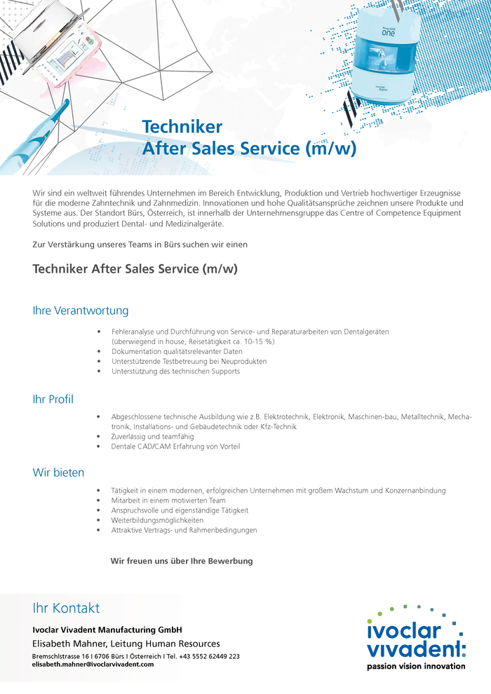 Techniker After Sales Service (m/w)