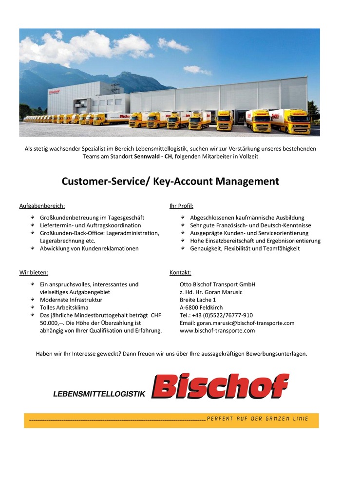 Customer-Service/ Key-Account Management