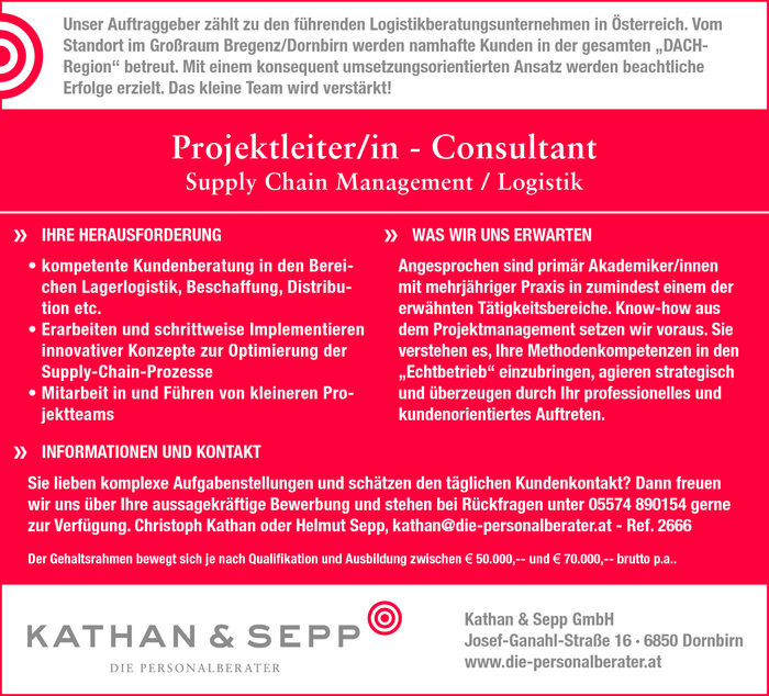 Projektleiter/in - Consultant