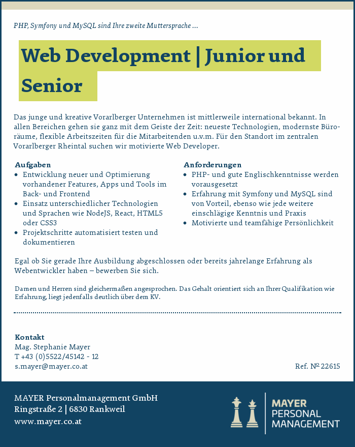 Web Development | Junior und Senior